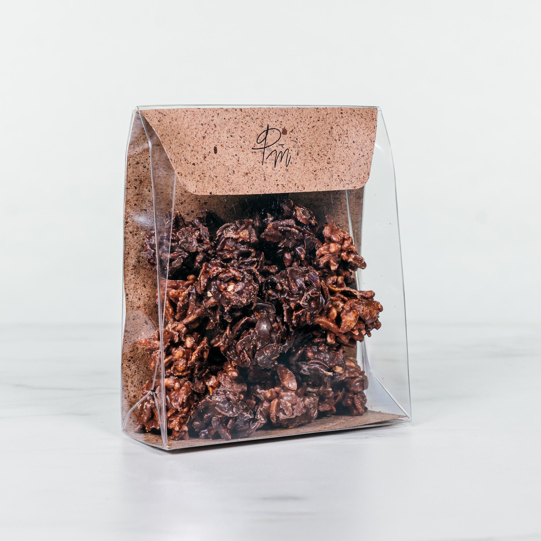 Rochers chocolat lait et noir